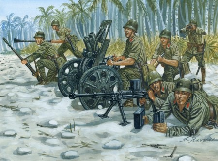 Italeri Infanterisett 1/72 Japanese M92 Light Howitzer and AT Team WWII