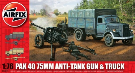 Airfix byggesett 1/76 PAK 40 75mm Anti-Tank Gun and Truck A02315