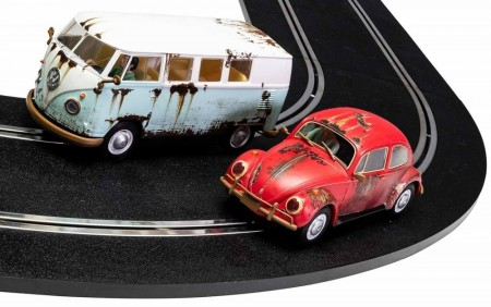 Scalextric 1:32 Legends Rusty Rides VW Beetle & T1B Camper Van