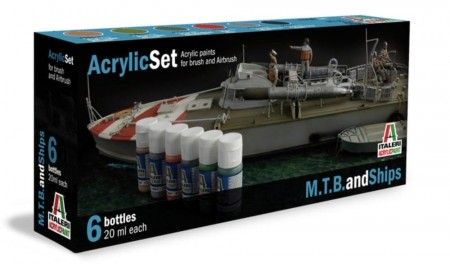 Italeri Arcylic Set MTB and Ships (6stk. 20ml)