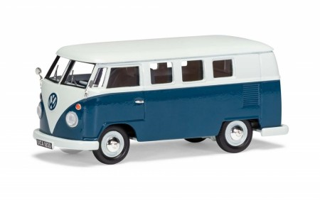 Corgi 1/43 VW Type 2 Camper, Sea Blue and Cumulus White Limited Edition