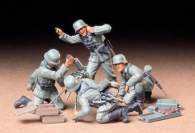 Tamiya 1/35 German Infantry Mortar Team