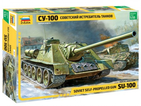 Zvezda 1/35 Soviet Self-Propelled Gun SU-100