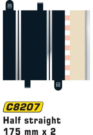 Scalextric Half Straight 175mm (2stk) C8207