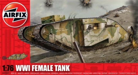 Airfix plastbyggesett 1/76 WWI Female Tank A02337