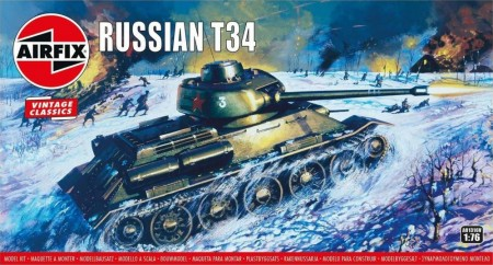 Airfix 1/76 Russian T34 Vintage Classic