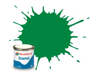Humbrol Enamel No 2 Emerald Green - Blank 14ml