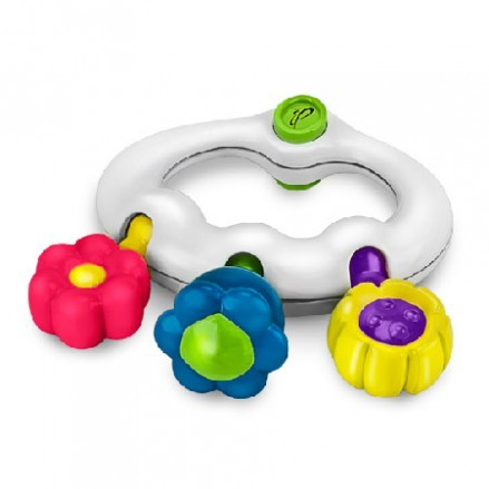 Papillon Rangle og Biteleke Flower Teething Rattle