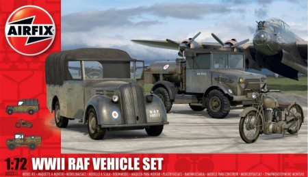 Airfix byggesett 1/72 WWII RAF Vehicle Set A03311