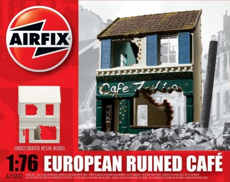 Airfix byggesett 1/76 European Ruined Cafe A75002