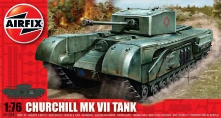 Airfix byggesett 1/76 Churchill MK VII Tank A01304