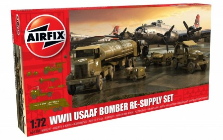 Airfix 1/72 WWII USAAF 8th Air Force Bomber Re-Supply Set A06304