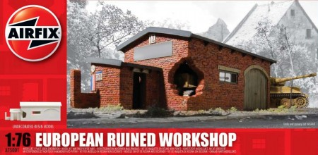 Airfix plastmodell 1/76 European Ruined Workshop A75001