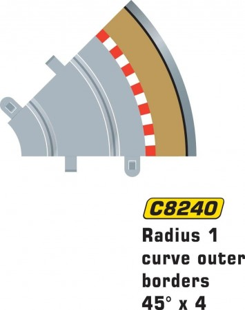 Scalextric Rad 1 Outer borders & barrier C8240