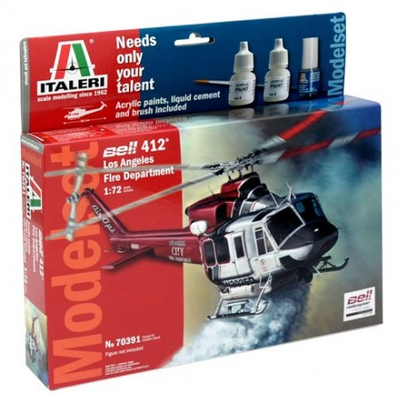 Italeri Startsett 1/72 Bell 412 Los Angeles Fire Department