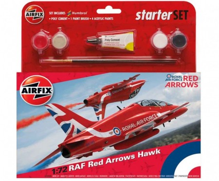 Airfix Startsett 1/72 RAF Red Arrows Hawk