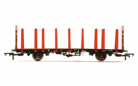 Hornby EWS, OTA Timber Wagon (Tapered Stanchions) - Era 9