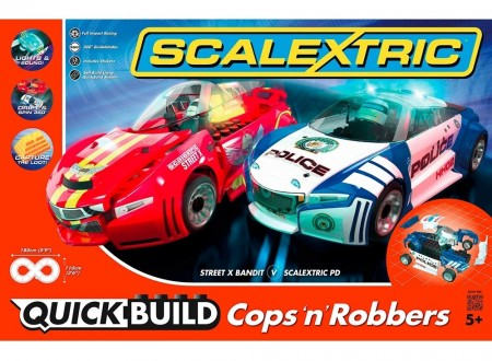 Scalextric bilbane 1:32 Cops N Robbers Drift Quick Build C1323P