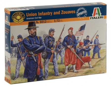 Italeri 1/72 Union Infantry and Zouaves American Civil War 6012