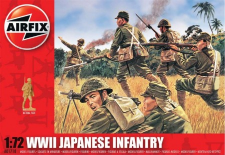 Airfix Infanterisett 1/72 WWII Japanese Infantry A01718