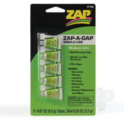 Zap A Gap Medium CA+ 5stk 0,5gram tuber PT105
