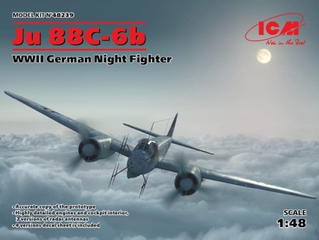 ICM 1/48 WWII German Night Fighter Ju 88C-6b