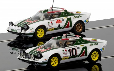 Scalextric bilsett 1:32 Legends Lancia Stratos 1976 Rally Champions