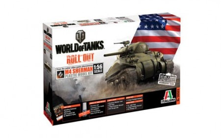 Italeri 1/56 World of Tanks M4 Sherman m/Lim