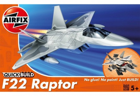 Airfix QUICK BUILD Lockheed Martin Raptor F-22 J6005