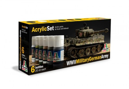 Italeri Acrylic Set WWII Military German Army (6stk. 20ml)