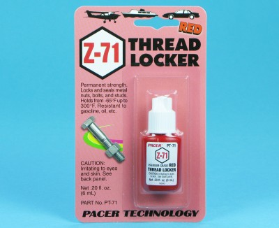 ZAP Thread Locker Z-71 Permanent (Red) 6ml PT71