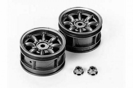 50569 Tamiya M-Chassis 8-Spoke Wheels 2 stk. (Silver)