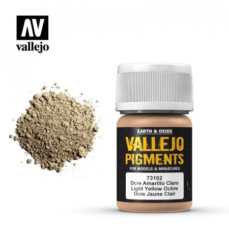 Vallejo Pigments Light Yellow Ochre 35ml