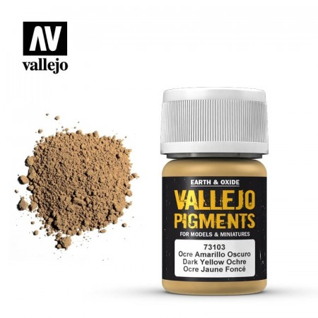 Vallejo Pigments Dark Yellow Ochre 35ml