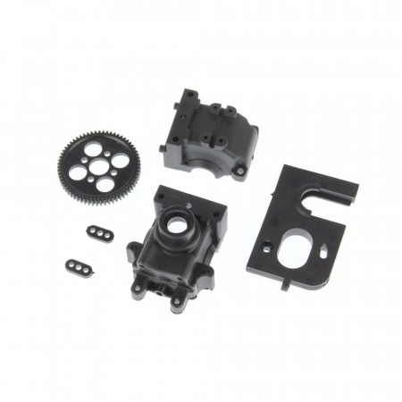 680-P004 HBX Differential Gearbox + Motor Mount + Spur Gear