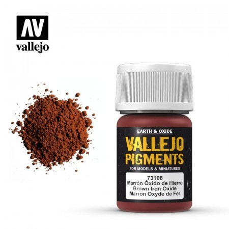 Vallejo Pigments Brown Iron Oxide 35ml