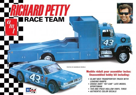 AMT 1/25 Richard Petty Race Team Dogde Dart Sportman and LN8000 Hauler