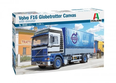 Italeri 1/24 Volvo F16 Globetrotter Canvas with Elevator