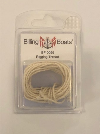 Billing Boats Riggetråd 1,5mm Off-White 5m