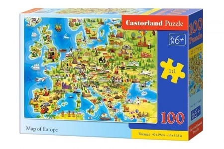 Castorland Map of Europe 100 Brikker