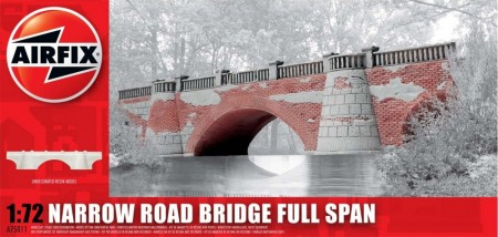 Airfix plastmodell 1/72 Narrow Road Bridge Road Full Span A75011