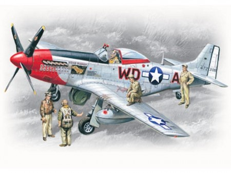 ICM 1/48 Mustang P-51D with USAAF Pilots and Ground Personnel