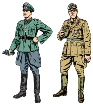 Tamiya 1/35 WWII Wehrmacht Officer and Africa Corps Tank Crewman