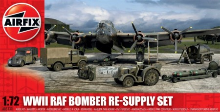 Airfix byggesett 1/72 WWII RAF Bomber Re-Supply Set A05330