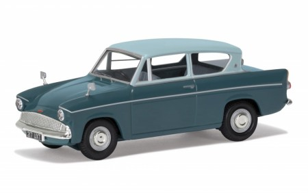 Corgi 1/43 Ford Anglia 105E Deluxe - Pompadour Blue and Shark Blue