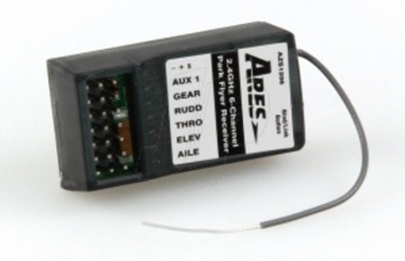 AZS1206 Ares 6-Channel Park Flyer Receiver