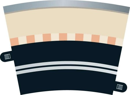 Scalextric Rad 3 Single Lane Curve (4stk) C7017