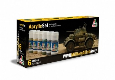 Italeri Arcylic Set WWII Military Allied Army (6stk. 20ml)