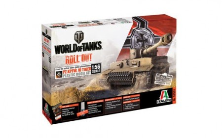 Italeri 1/56 World of Tanks Pz.Kpfw. VI Tiger I m/Lim
