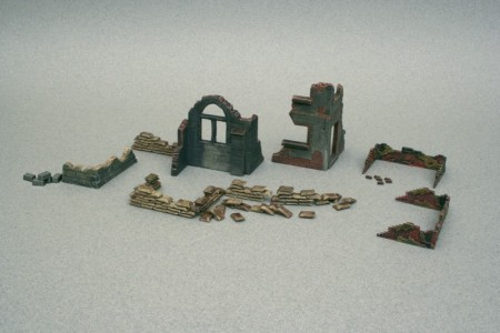 Italeri byggesett 1/72 WWII Walls and Ruins